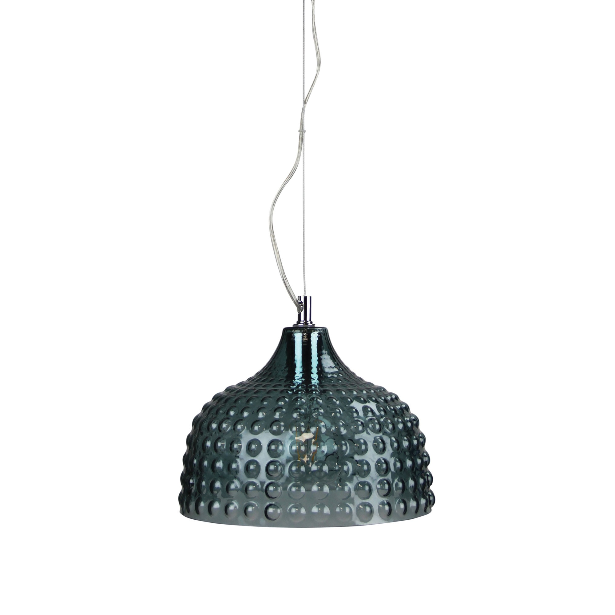 Cara Glass Pendant Light, Mint