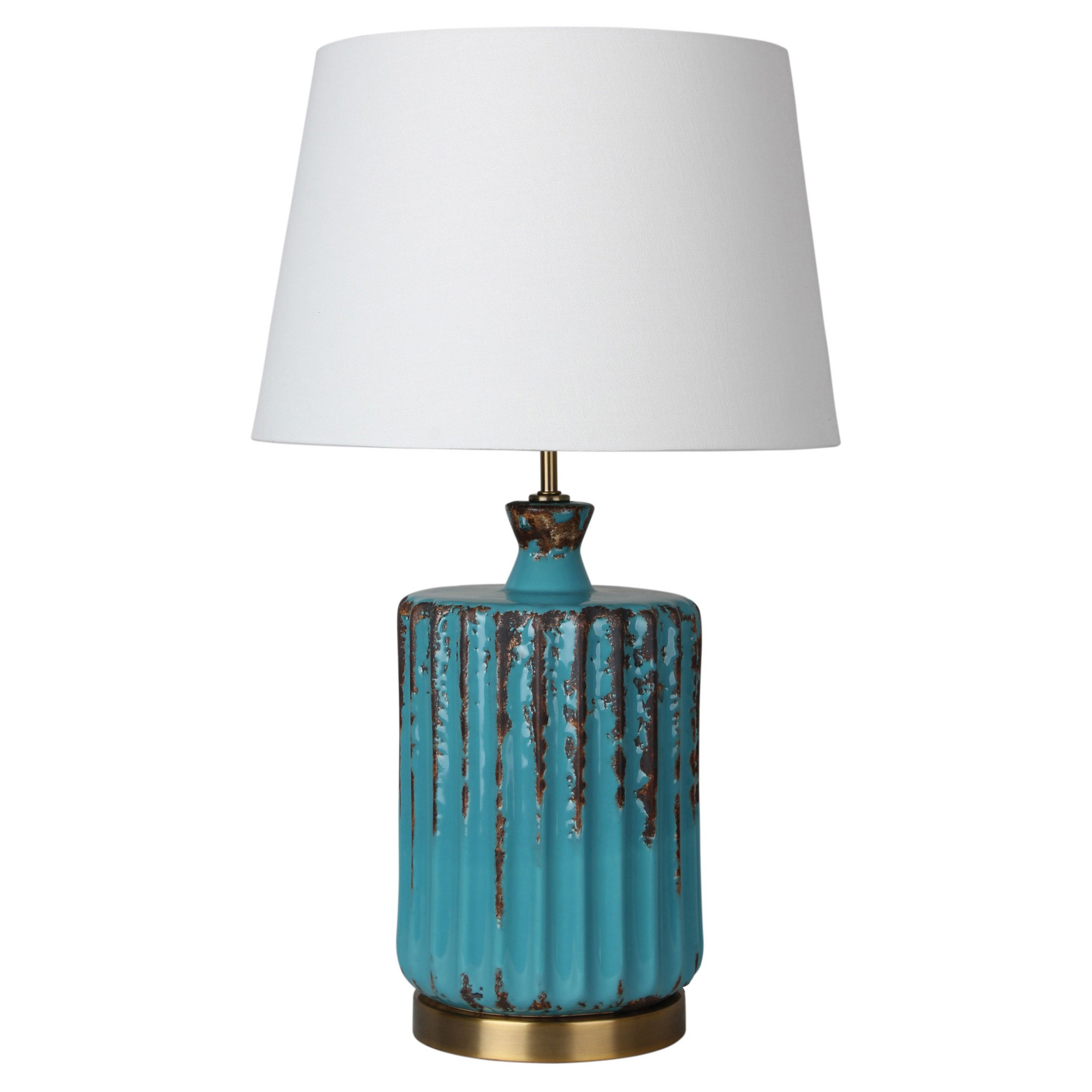 Azure Ceramic Base Table Lamp