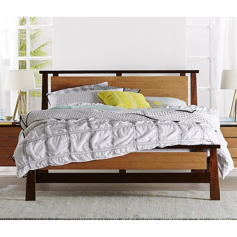 Inca Hardwood Bed, Queen