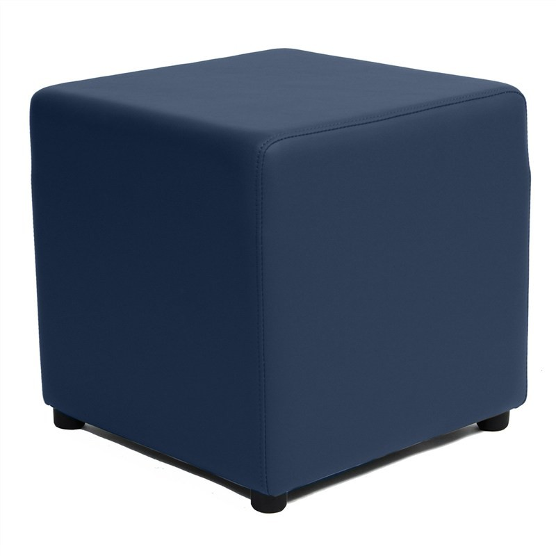 Berlin V2 Commercial Grade Square Ottoman - Blue