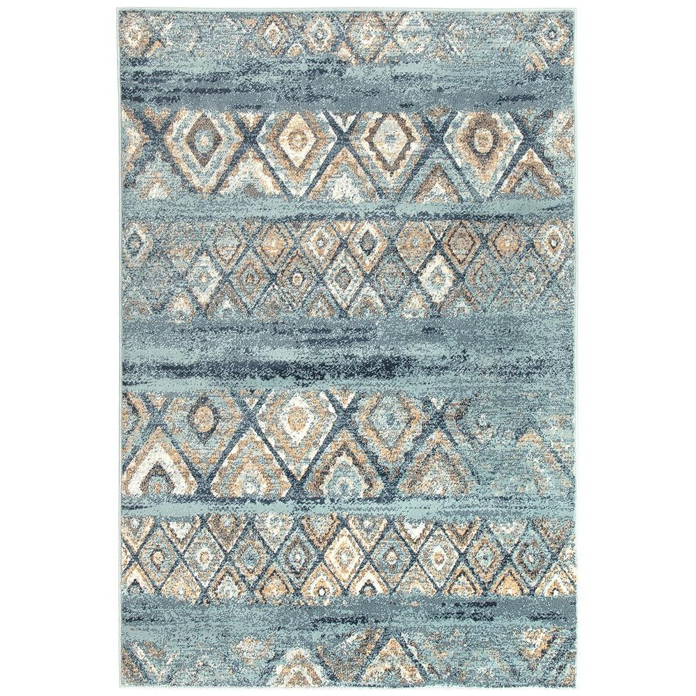 Mayfair Contrast Traditional Rug, 300x400cm, Blue