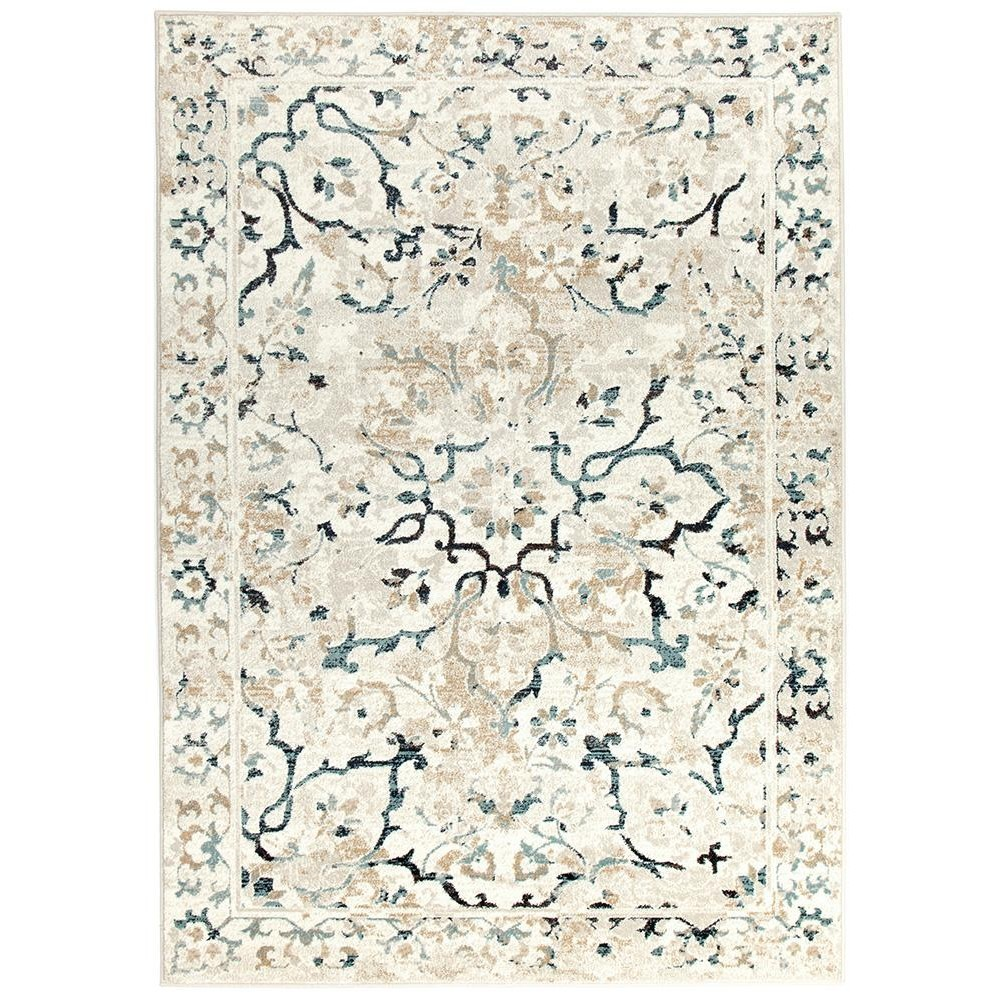 Mayfair Stem Traditional Rug, 240x330cm, Bone