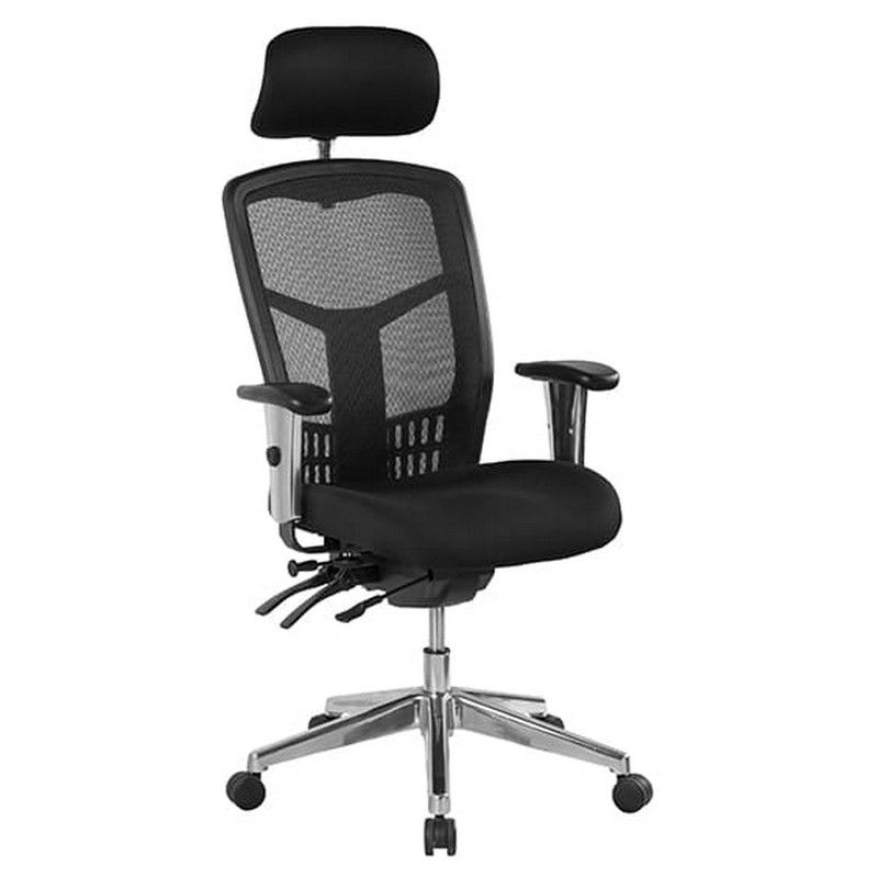 Oyster Fabric Multi Shift Office Chair, High Back