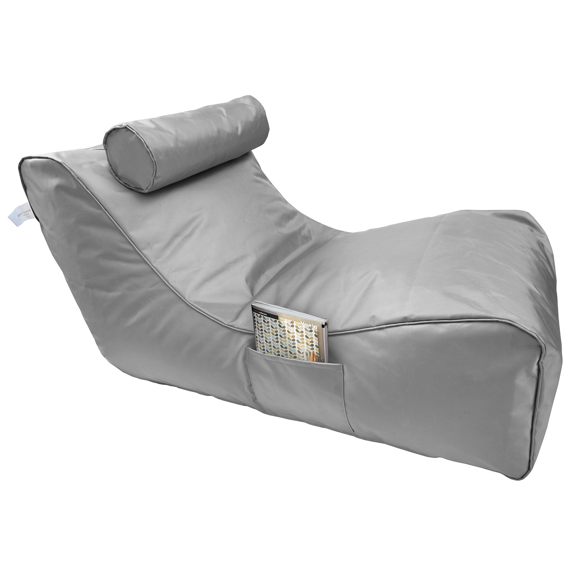 Panama Fabric Indoor / Outdoor Bean Bag Cover, Silver