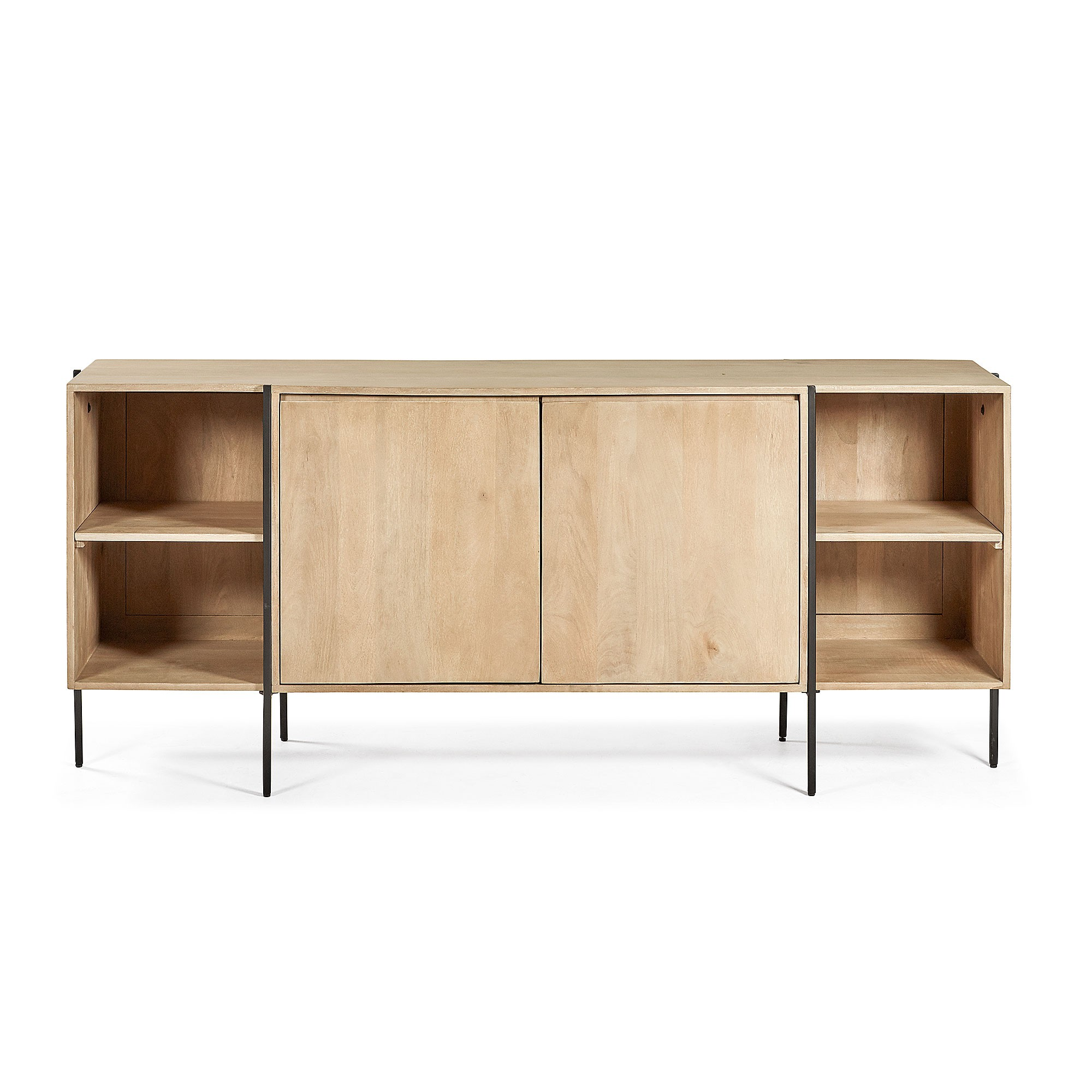 Aparador Mango Wood & Iron 2 Door Sideboard, 185cm