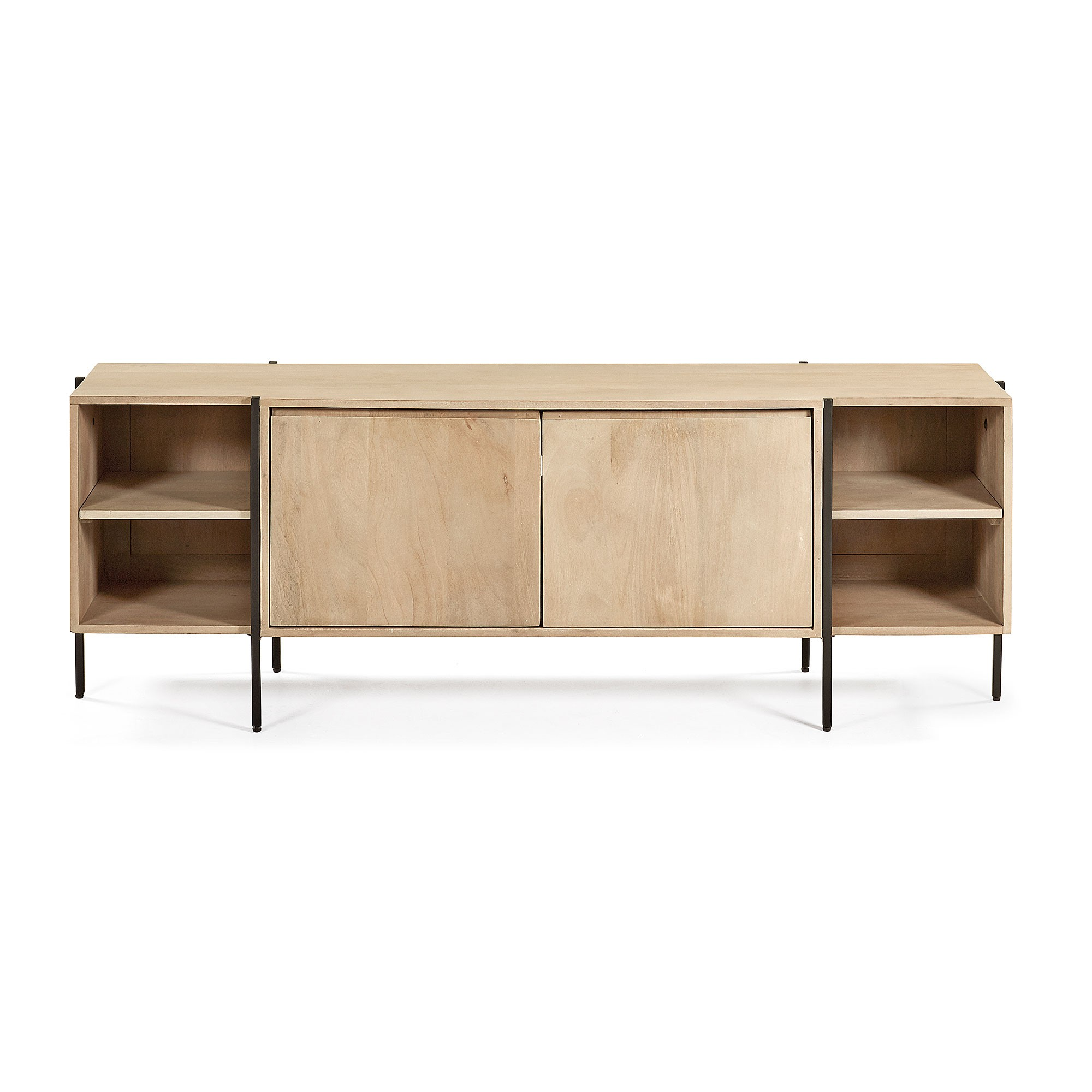 Aparador Mango Wood & Iron 2 Door TV Unit, 160cm