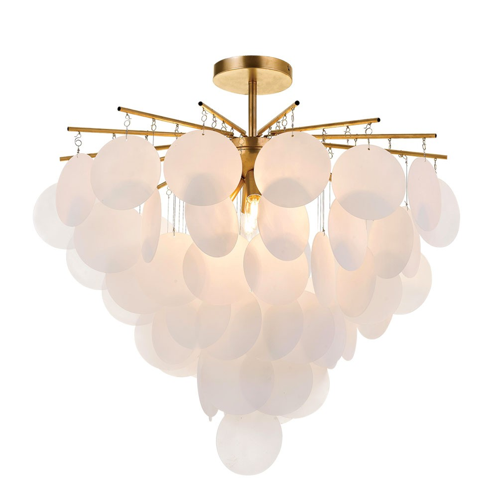 Papino Pendant Light, White / Gold