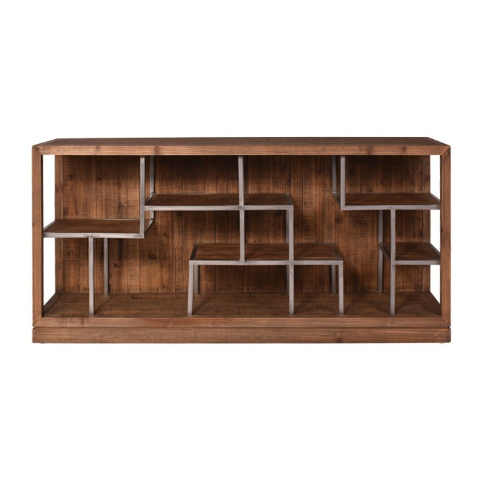 Meopham Reclaimed Fir Timber Wall Unit, 180cm