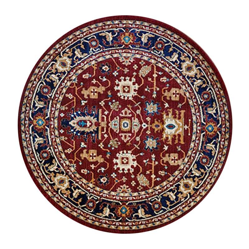 Nevada Dorsa Oriental Round Rug, 160cm, Red