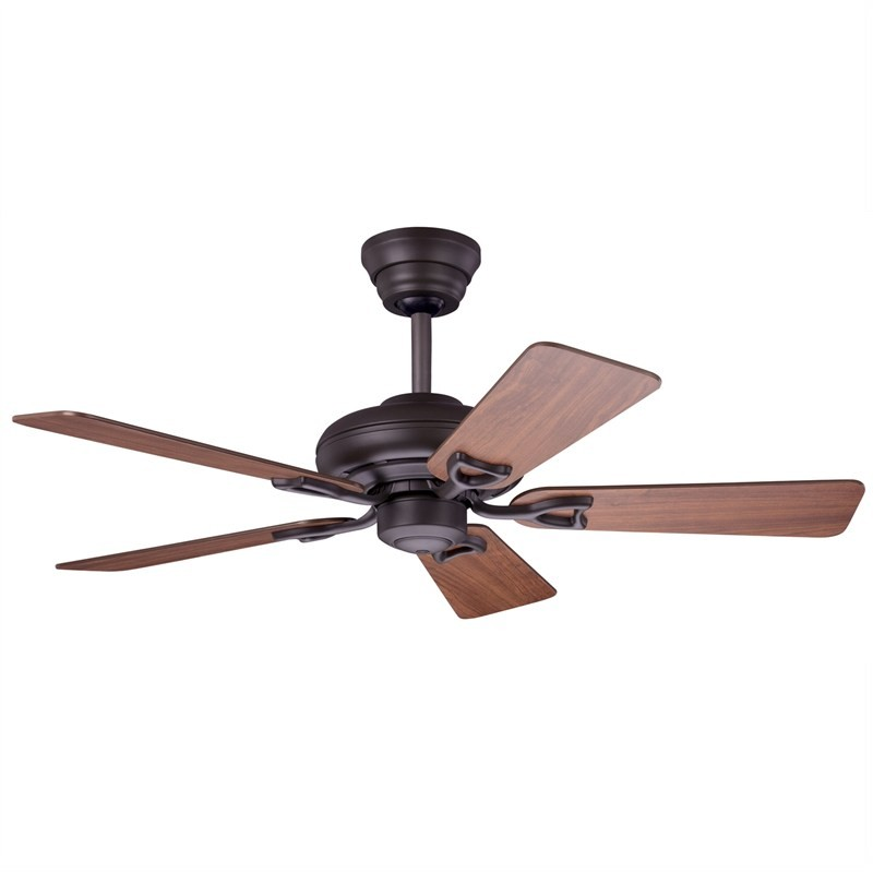 Hunter Seville II Commercial Grade New Bronze Ceiling Fan with Medium Oak / Dark Cherry Switch Blades