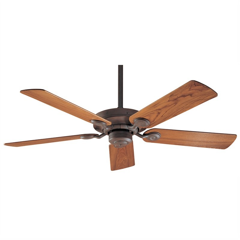 Hunter Outdoor Elements II Commercial Grade Weathered Brick Ceiling Fan with Solid Teak Timber Blades