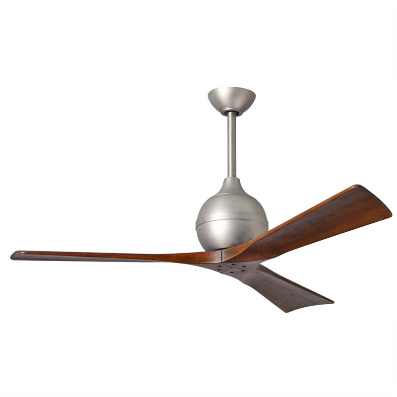 Atlas Irene-3 Commercial Grade Ceiling Fan whith Wooden Blades - Brushed Nickel