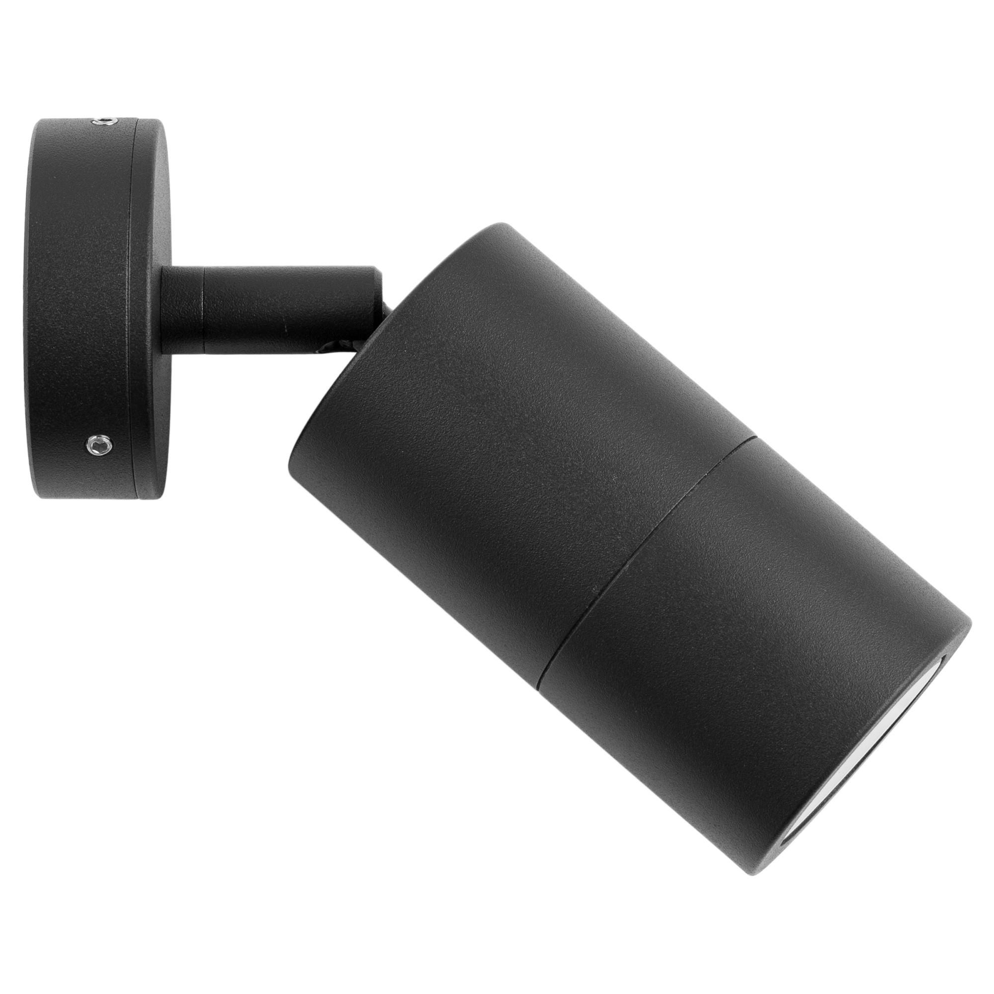 Roslin IP65 Exterior Single Adjustable Wall Light, GU10, Black