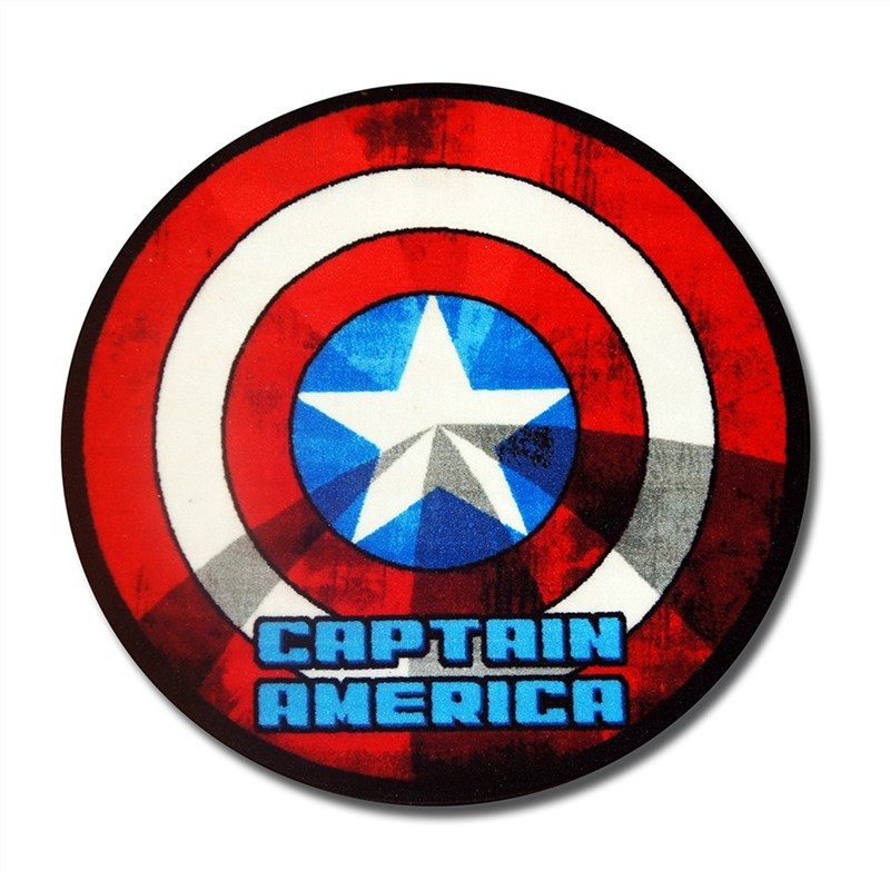 Captain America Shield Round Kid Rug - 100cm
