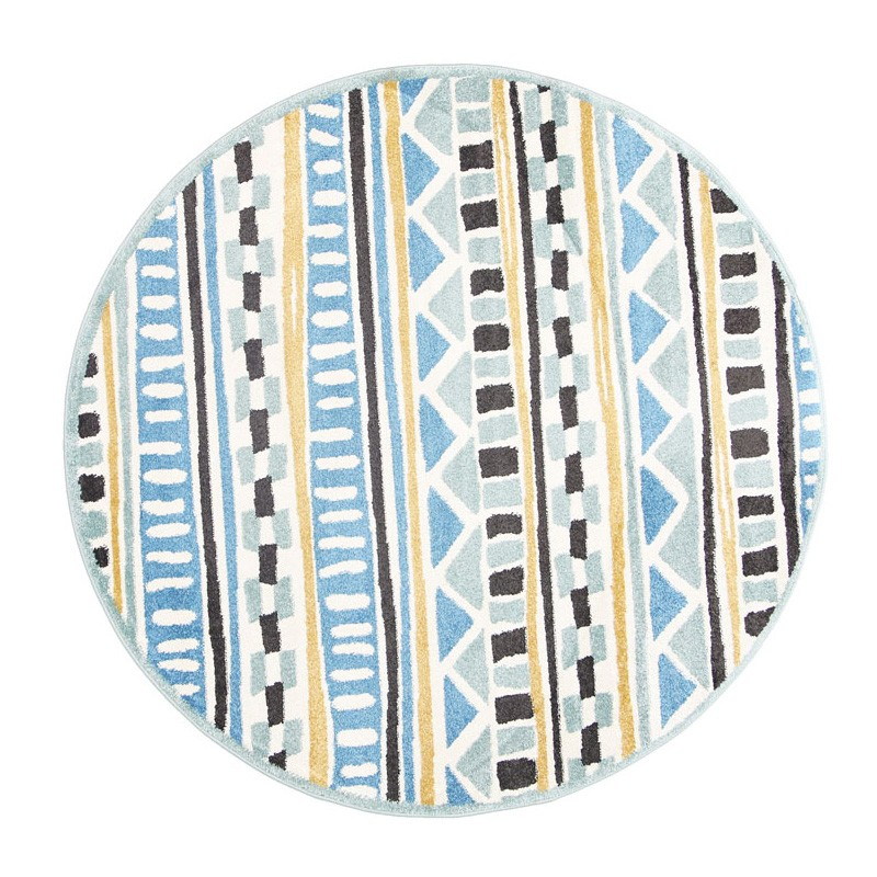 Piccolo Cecos Turkish Made Round Kids Rug, 133cm