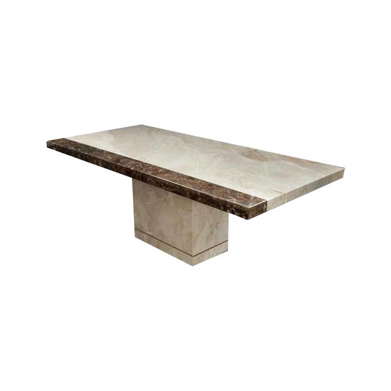 Petro Italian Corallo Marble Dining Table, 210cm, Beige