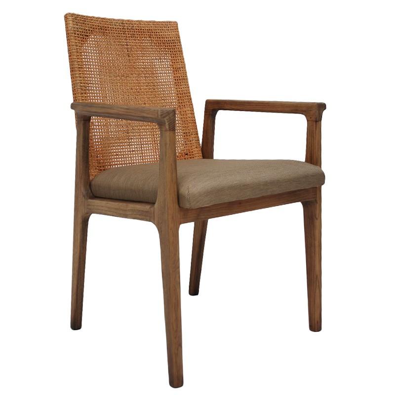 Meriel Rattan & Mindi Wood Dining Armchair