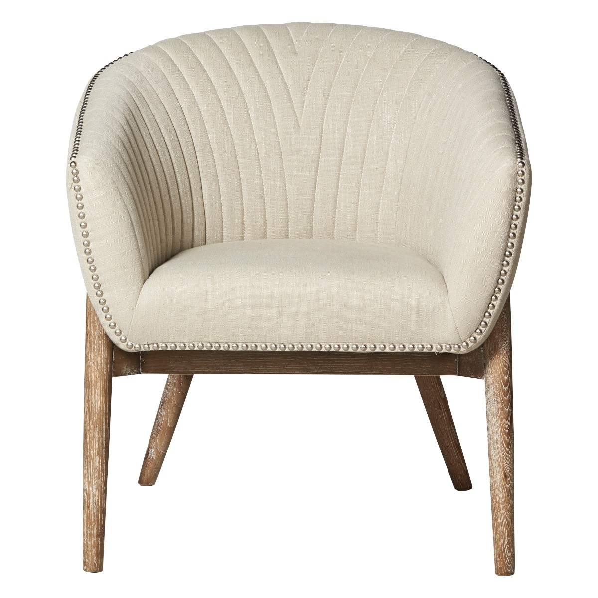 Luxe Fabric Armchair, Cream