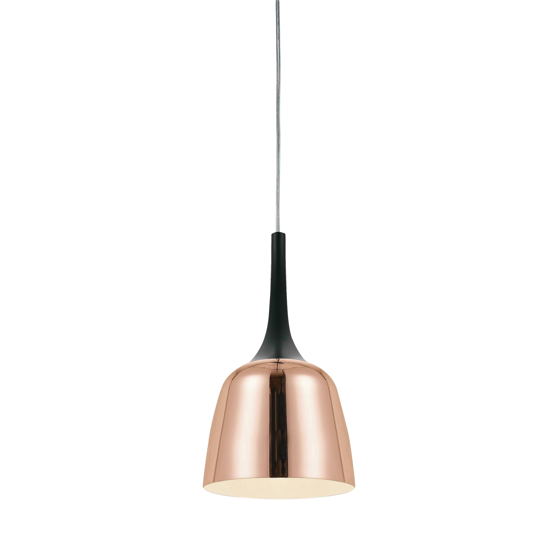 Polk Metal Pendant Light, Small, Copper / Black