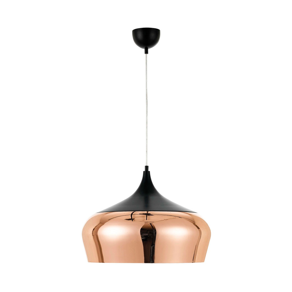 Polk Metal Pendant Light, Large, Copper / Black