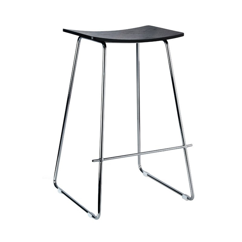 Porter Commercial Grade Steel Bar Stool, Black / Chrome