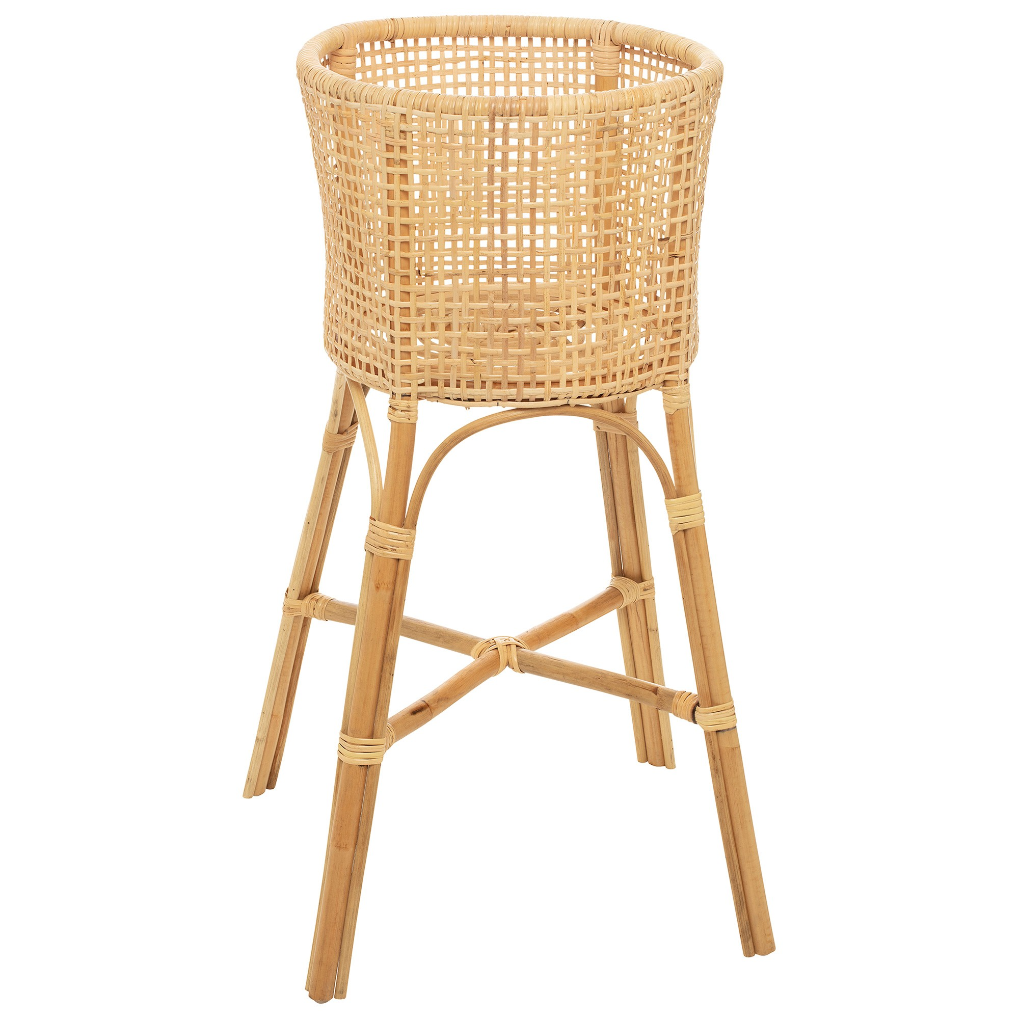 Westconsin Rattan Planter Stand, Natural