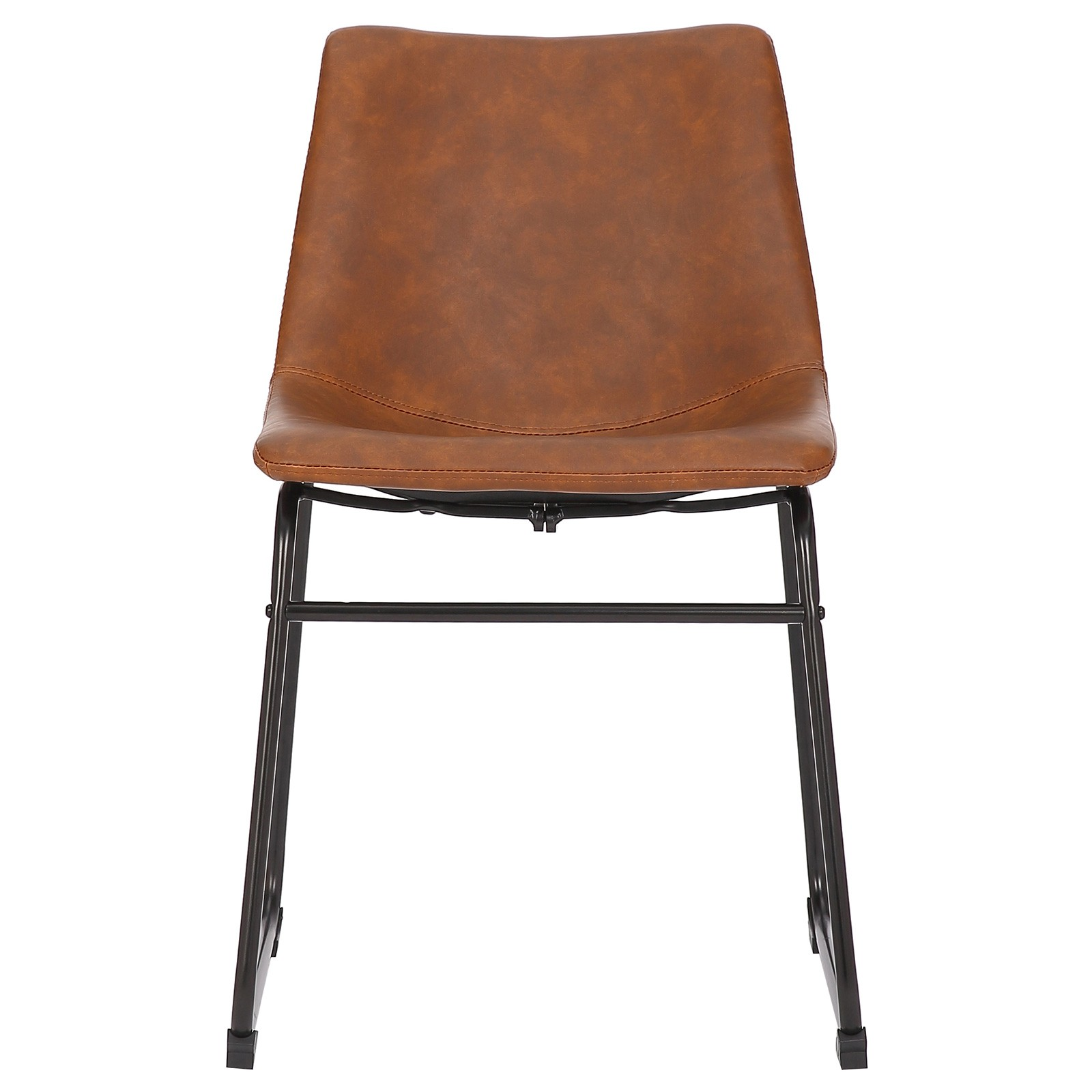 Prato Commercial Grade Faux Leather Dining Chair, Tan