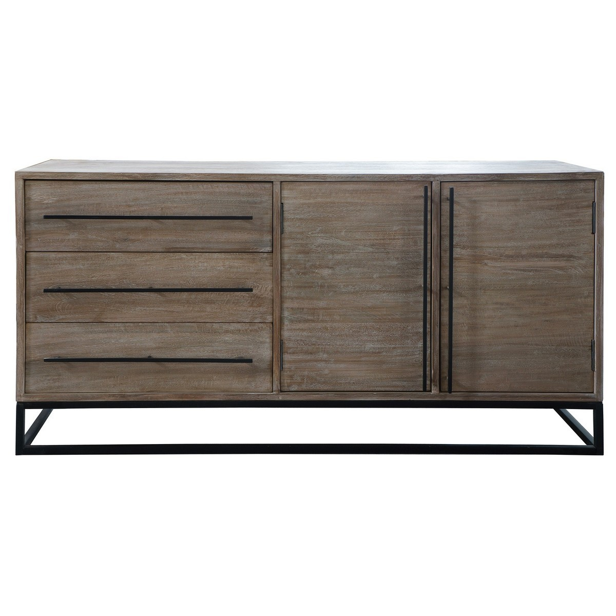 Pontons Mango Wood 2 Door 3 Drawer Sideboard, 160cm