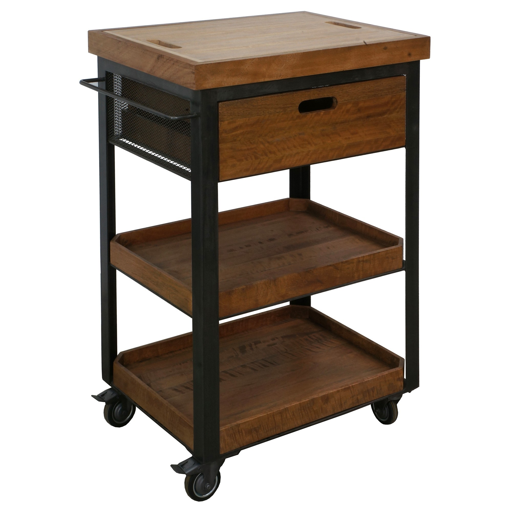 Lamiran Mango Wood & Steel Butchers Block