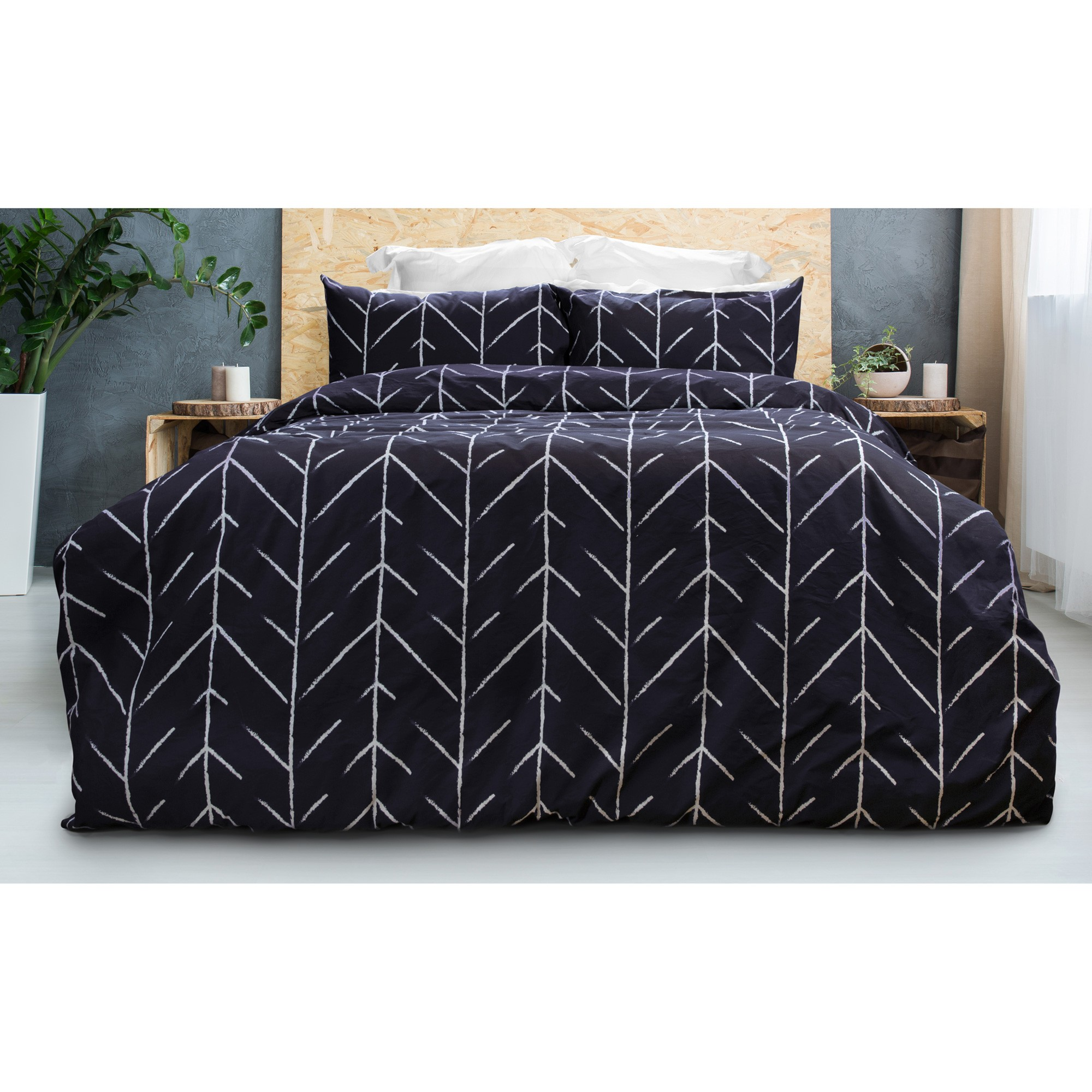 Peaks 2 Piece Cotton Quilt Cover Set, Single