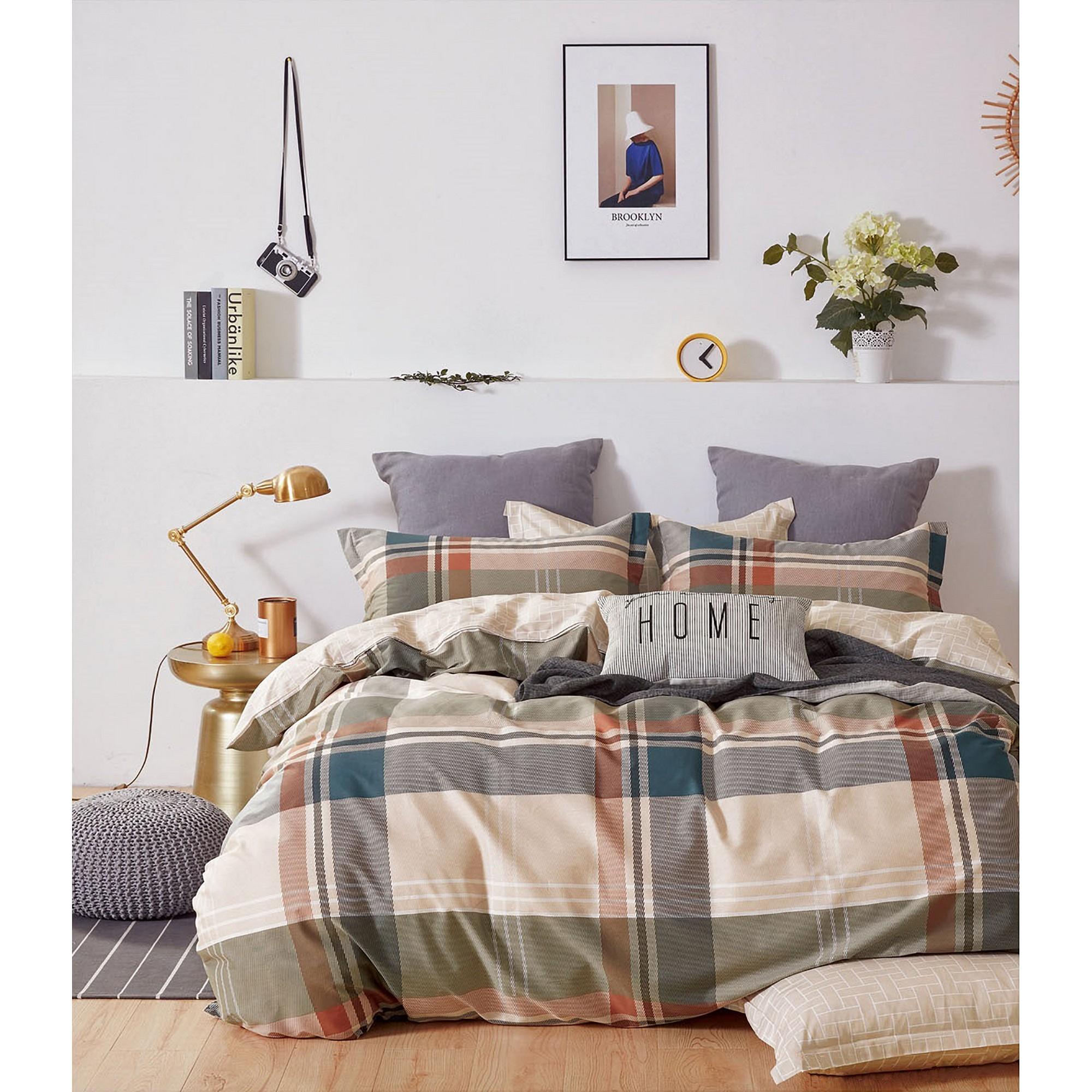 Ardor Sturt 3 Piece Cotton Quilt Cover Set, Double