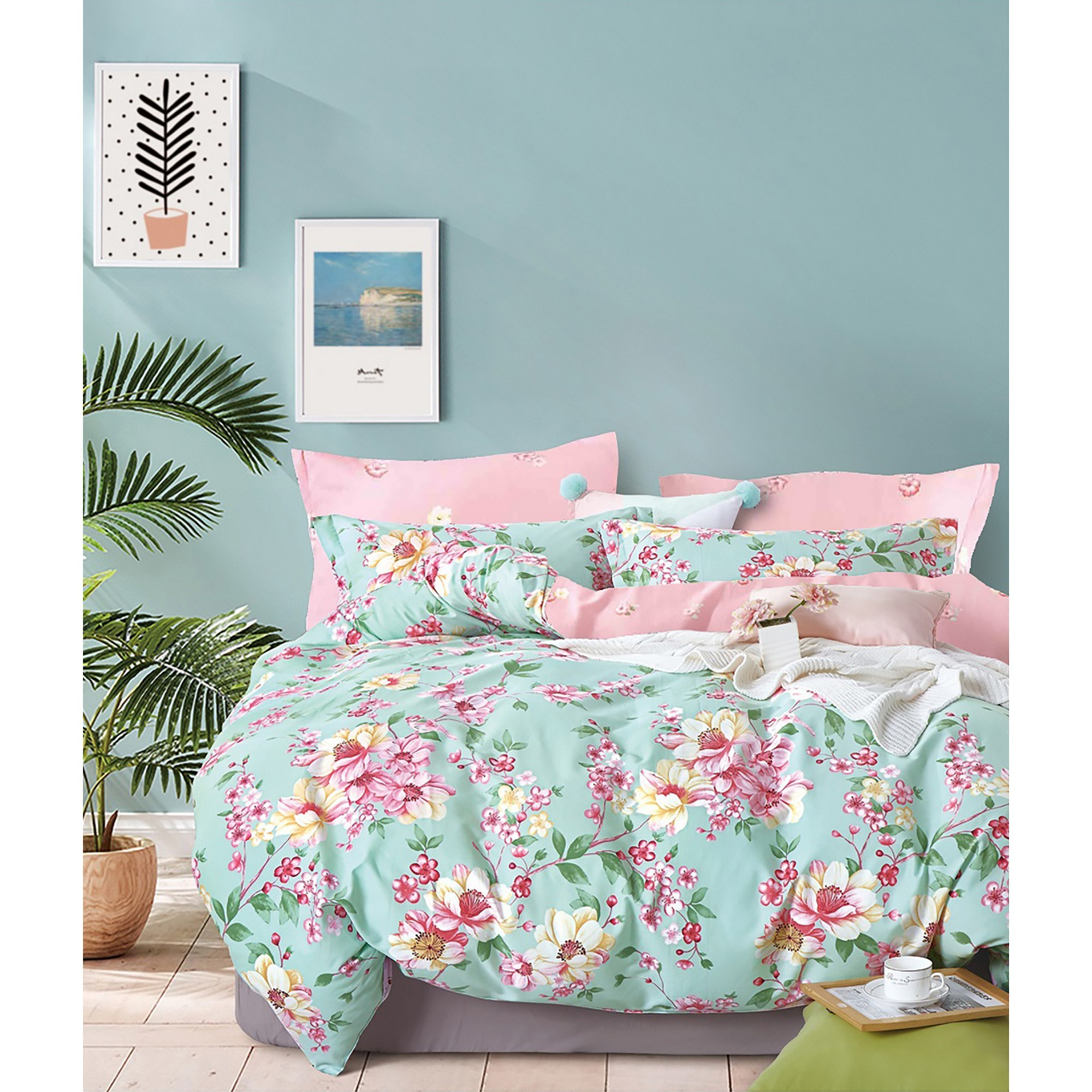 Ardor Missy Reversible Quilt Cover Set, Queen