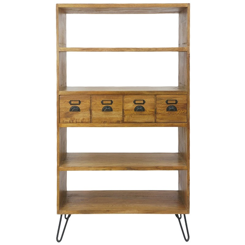 Leroy Mango Wood & Iron Bookcase