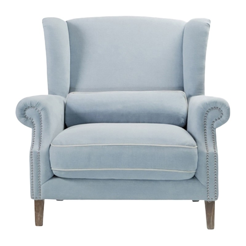 Celeste II Fabric Love Chair, Blue