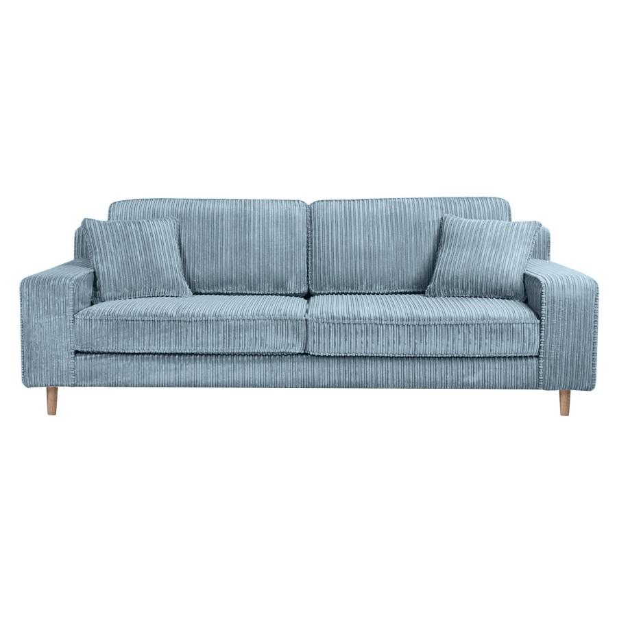 Riva Ribcord Fabric Sofa, 3 Seater, Aqua