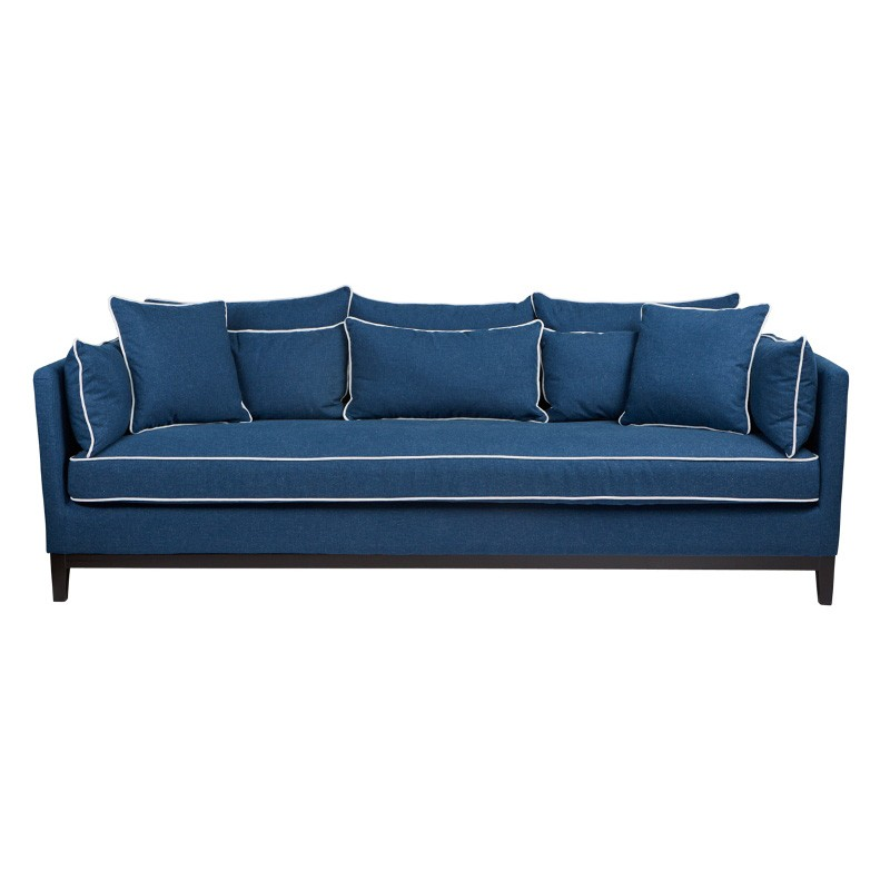 Valerie Fabric Sofa, 3 Seater, Navy