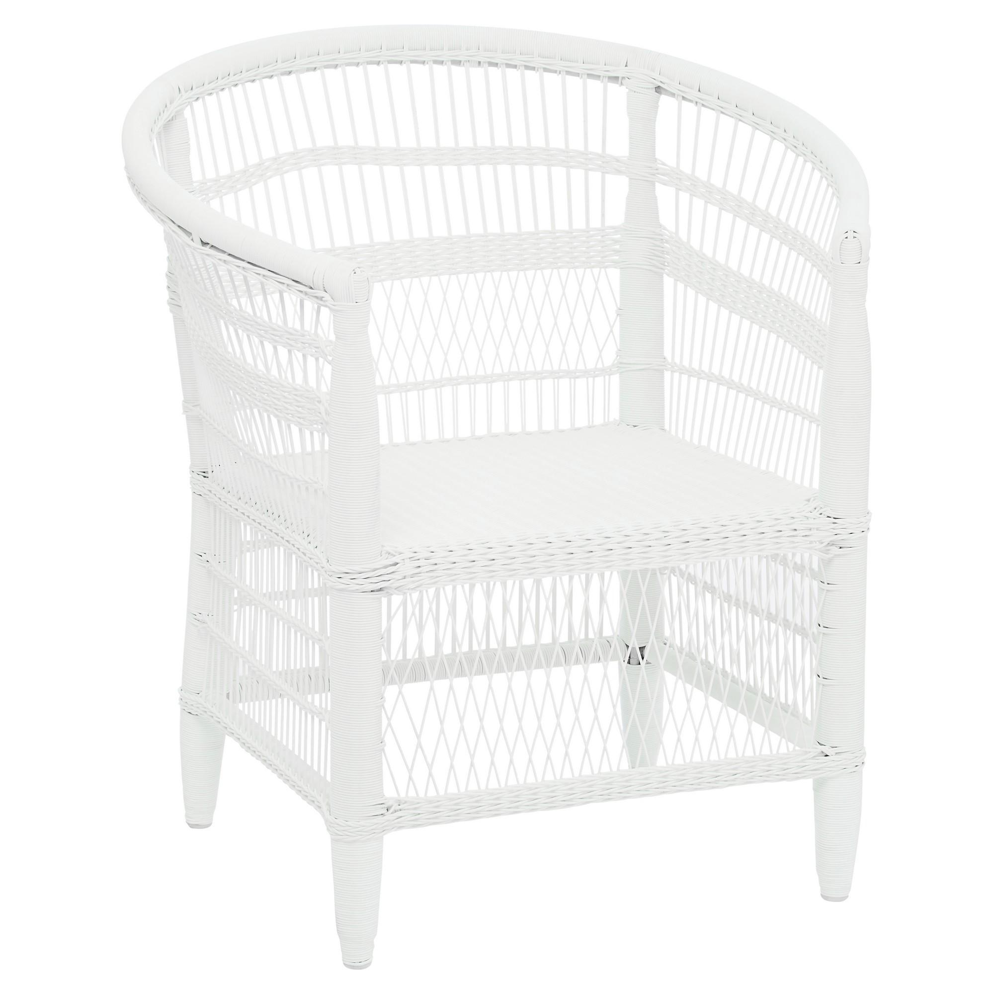 La Palma Wicker Armchair, White