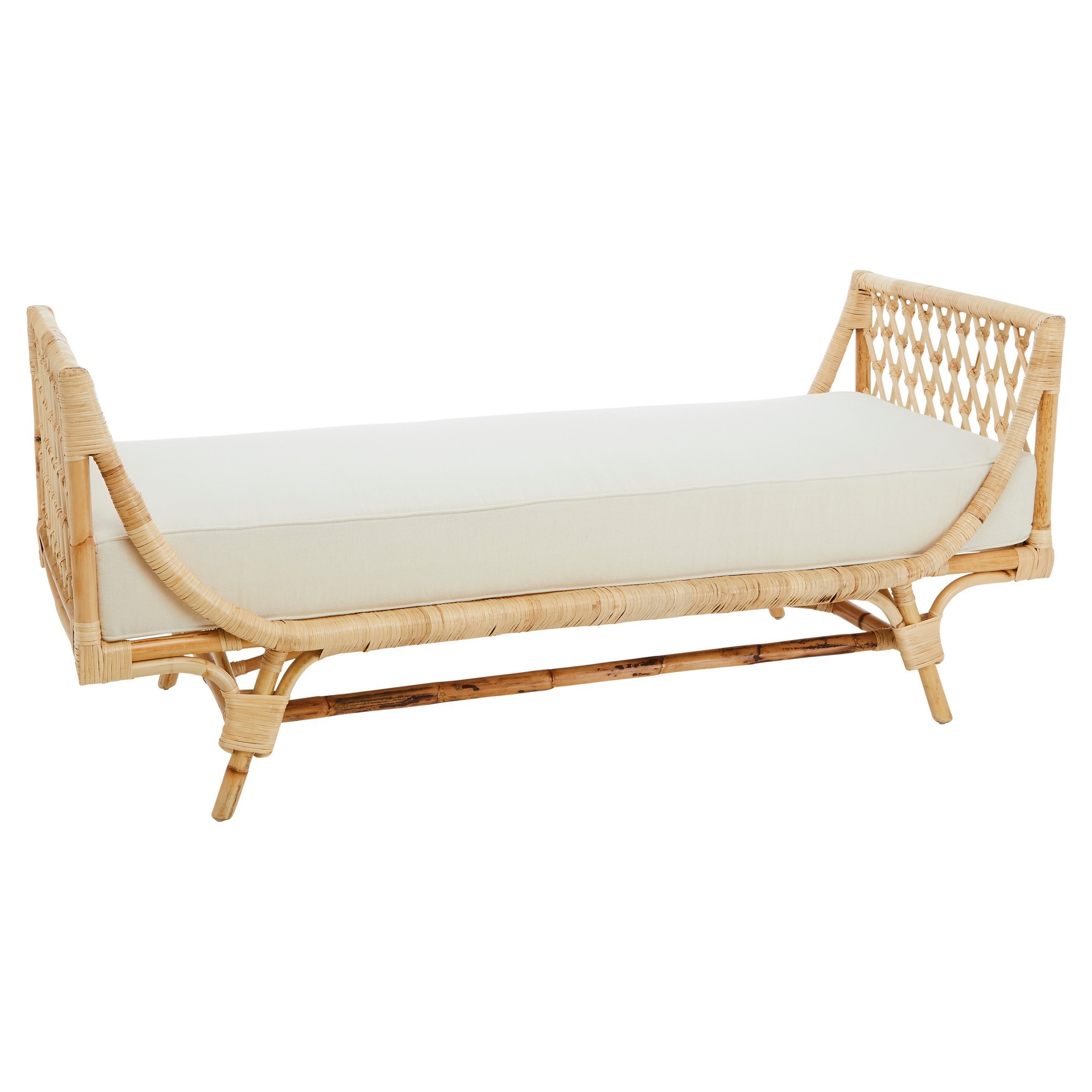 Ravello Rattan Sofa Bed / Bench, Natural