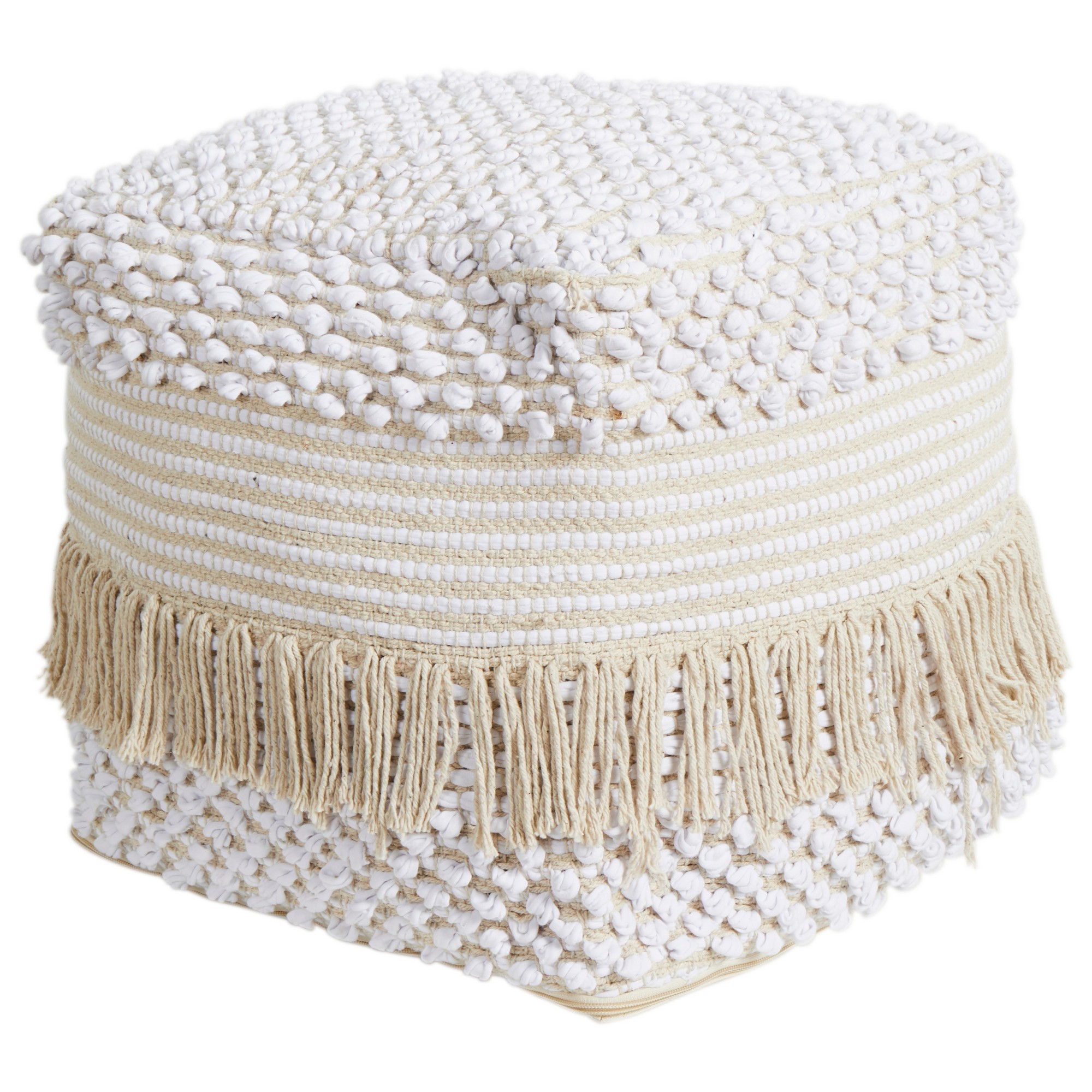 Kaya Handcrafted Cotton Ottoman