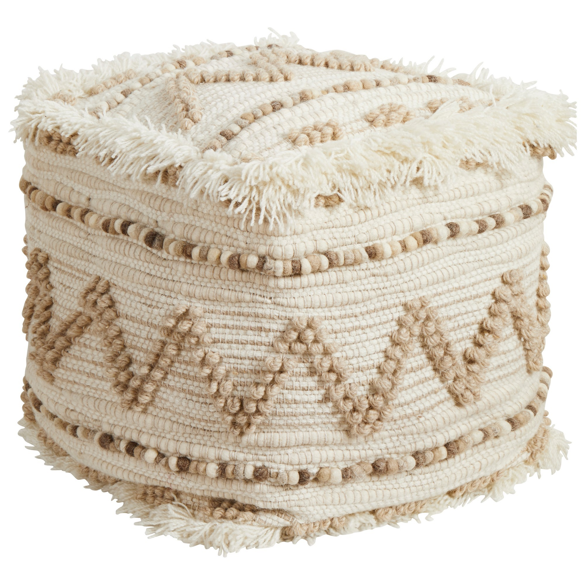 Twila Handcrafted Wool Ottoman