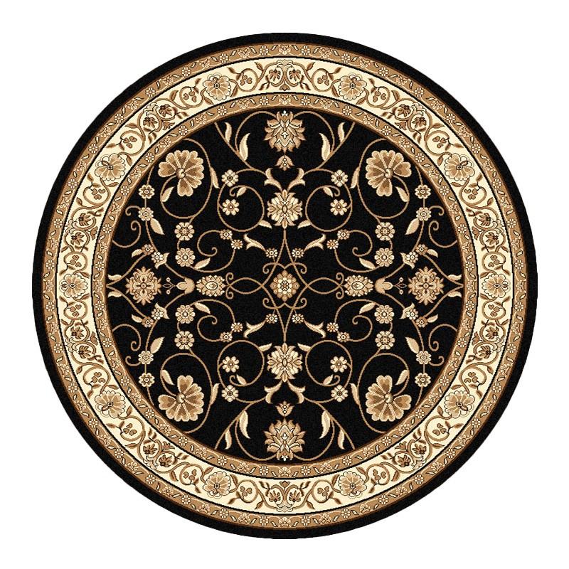 Cyropolis Jaslyn Oriental Round Rug, 240cm, Black
