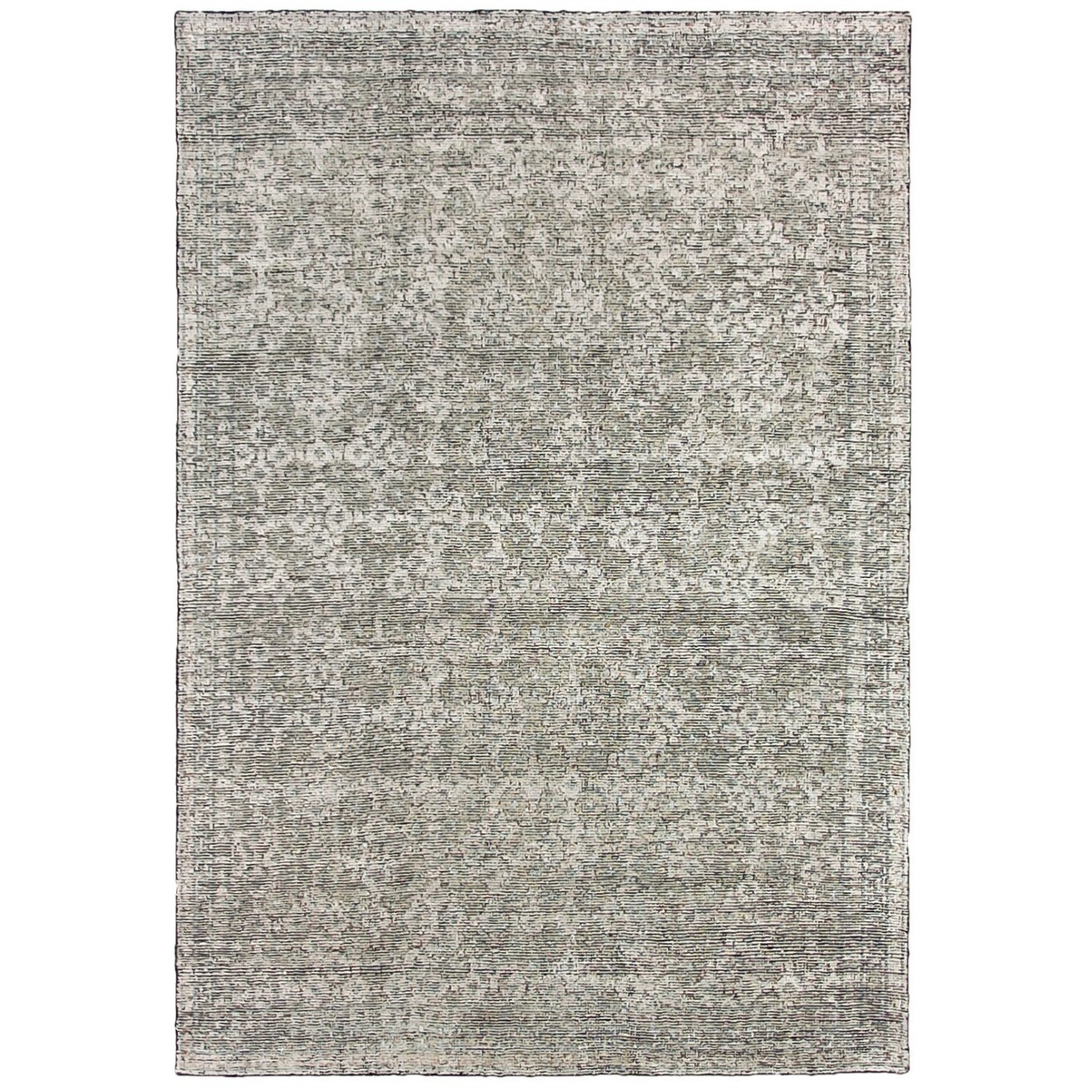 Revival Oushak Hand Knotted Wool & Viscose Rug, 200x300cm, Washed Indigo
