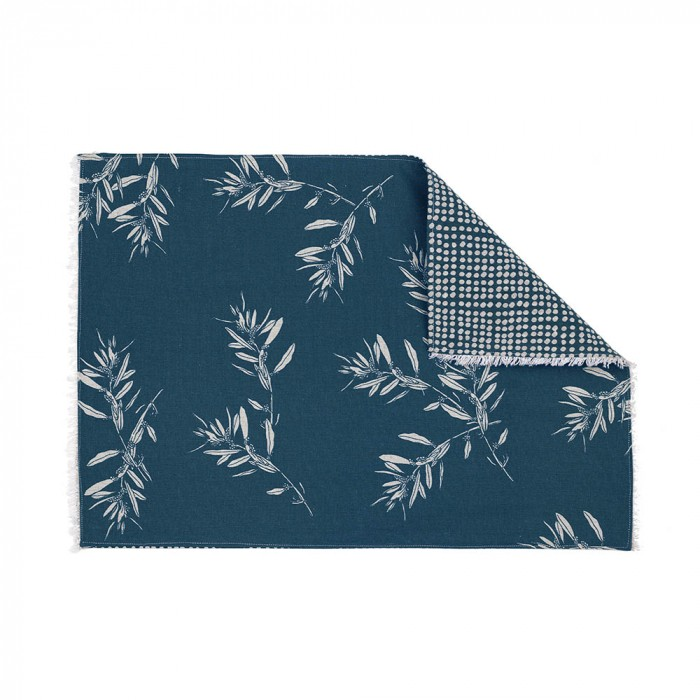 Olive Grove & Cotswold 4 Piece Fabric Placemat Set, Blue