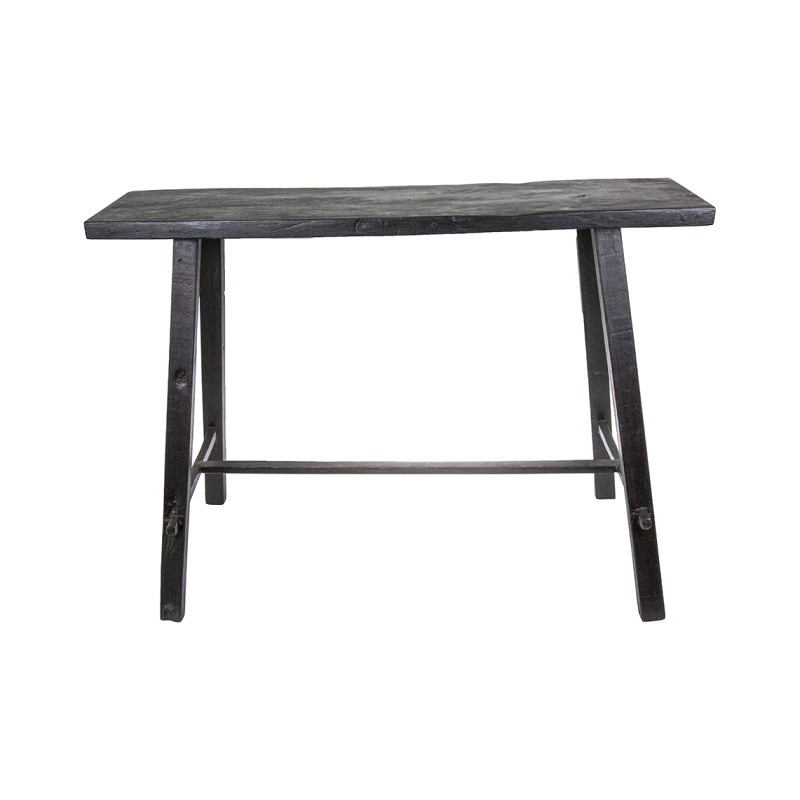 Bella Recycled Timber Console Table, 100cm, Black