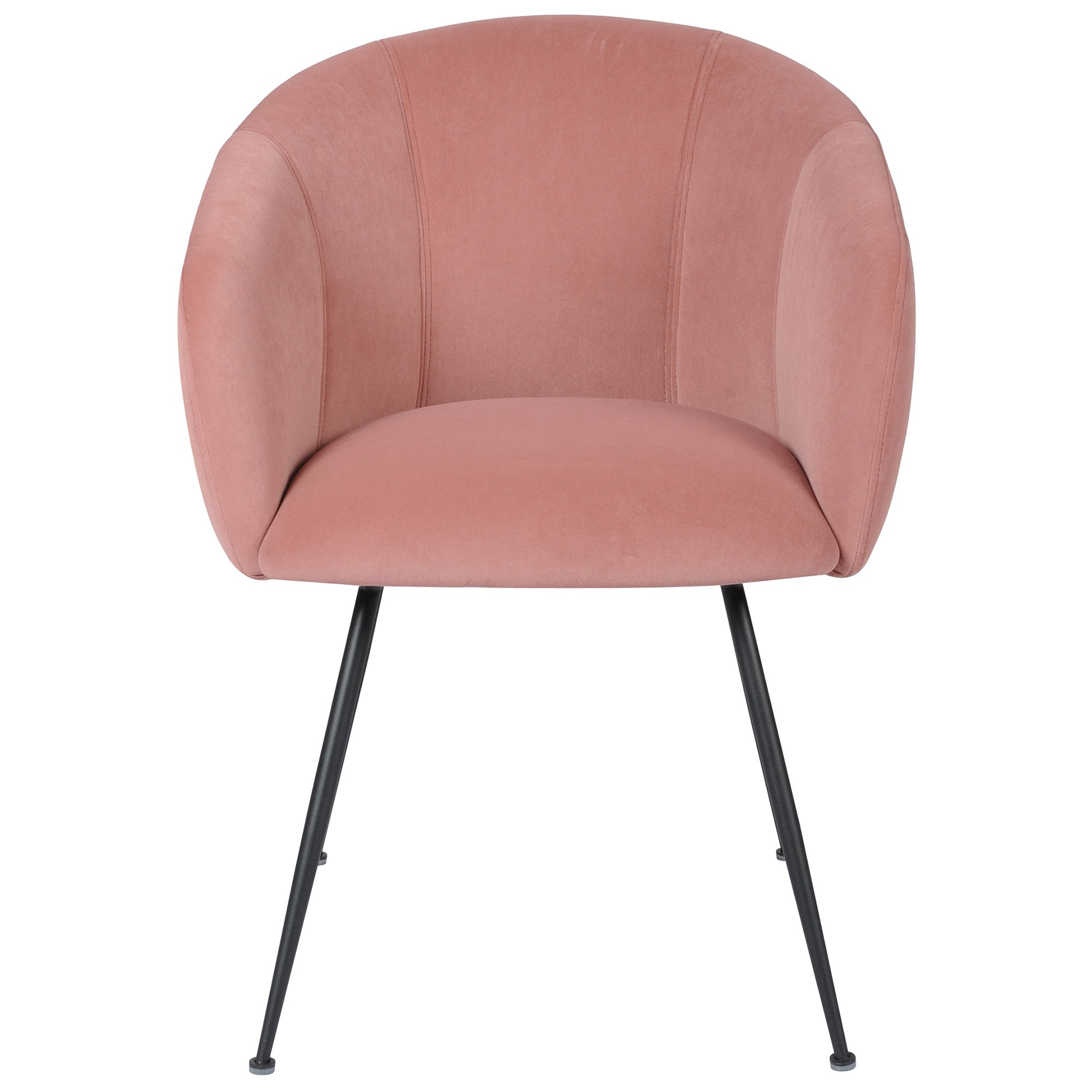 Linn Velvet Fabric Dining Chair, Blush