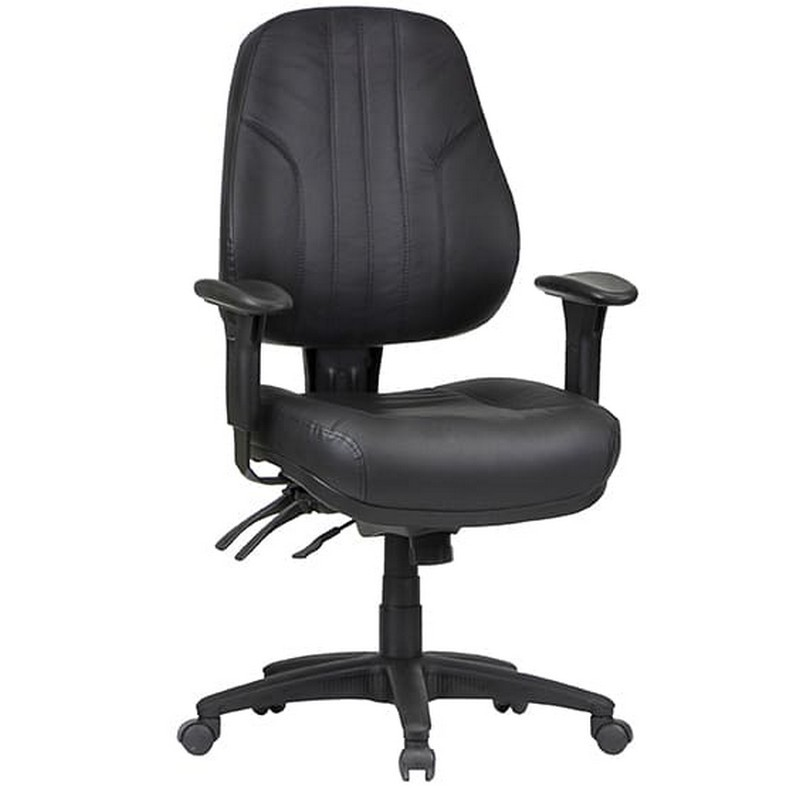 Rover Leather Multi Shift Office Chair, Low Back