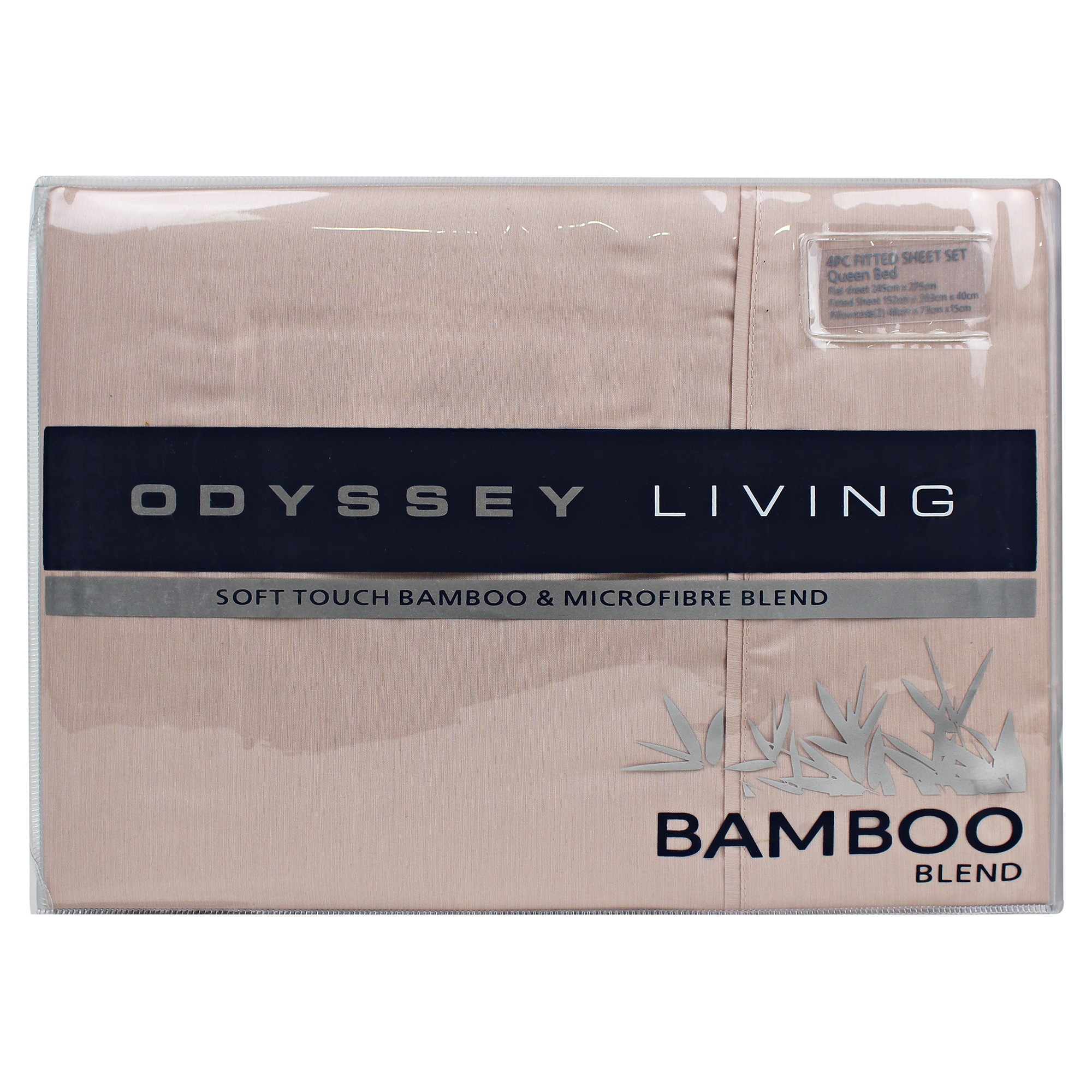 Odyssey Living Soft Touch Bamboo & Microfibre Blend Sheet Set, King, Shell