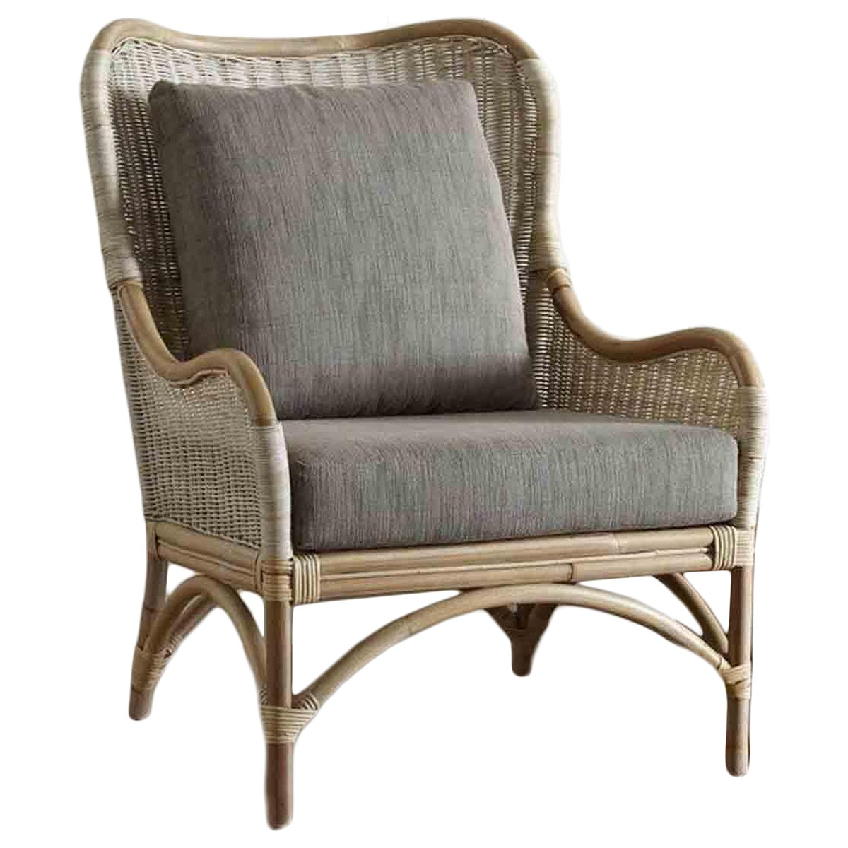 Santos Rattan Wing Back Armchair