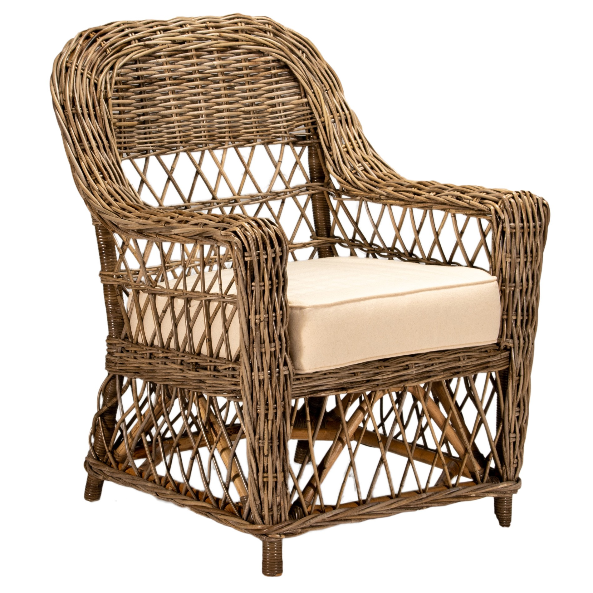 Palmetto Rattan Armchair, Natural