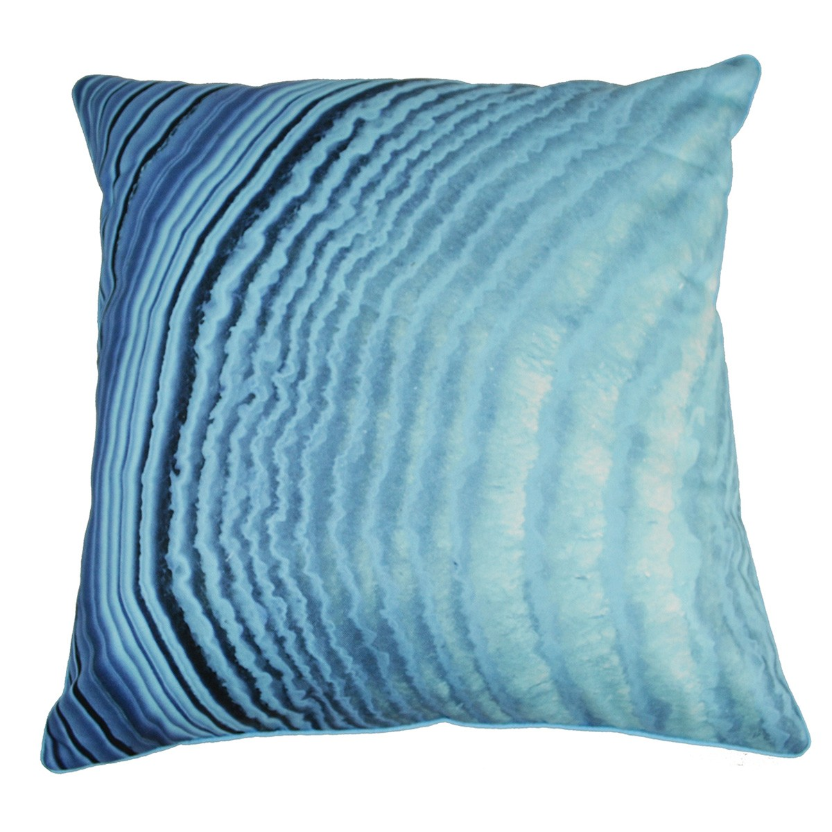 Blue Agate I Printed Cotton Scatter Cushion